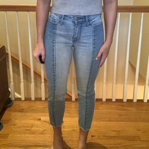 Hollister 2 tone straight crop jeans
